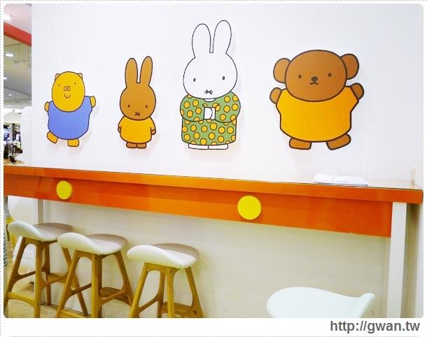 MiffyX2% CAFE-米飛兔-卡通主題餐廳-Miffy主題咖啡-親子餐廳-台北-板橋-中和環球-環球購物中心-Global Mall-Miffy 60歲-生日快樂-Miffy 60週年特展-比利時鬆餅-7-162-1