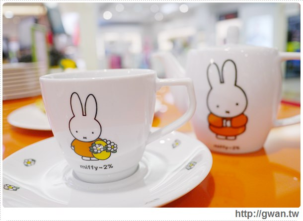 MiffyX2% CAFE-米飛兔-卡通主題餐廳-Miffy主題咖啡-親子餐廳-台北-板橋-中和環球-環球購物中心-Global Mall-Miffy 60歲-生日快樂-Miffy 60週年特展-比利時鬆餅-14-277-1