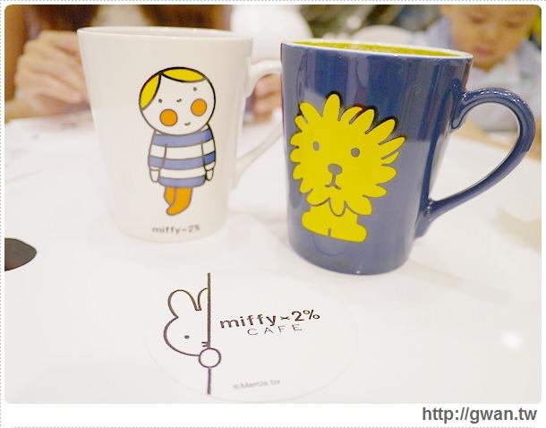 MiffyX2% CAFE-米飛兔-卡通主題餐廳-Miffy主題咖啡-親子餐廳-台北-板橋-中和環球-環球購物中心-Global Mall-Miffy 60歲-生日快樂-Miffy 60週年特展-比利時鬆餅-19-180-1