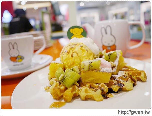 MiffyX2% CAFE-米飛兔-卡通主題餐廳-Miffy主題咖啡-親子餐廳-台北-板橋-中和環球-環球購物中心-Global Mall-Miffy 60歲-生日快樂-Miffy 60週年特展-比利時鬆餅-26-280-1