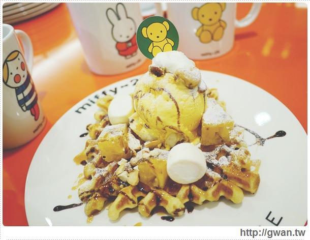 MiffyX2% CAFE-米飛兔-卡通主題餐廳-Miffy主題咖啡-親子餐廳-台北-板橋-中和環球-環球購物中心-Global Mall-Miffy 60歲-生日快樂-Miffy 60週年特展-比利時鬆餅-28-281-1
