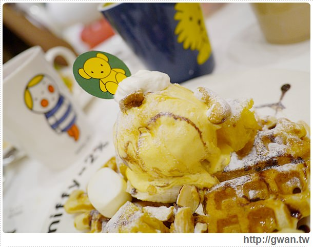 MiffyX2% CAFE-米飛兔-卡通主題餐廳-Miffy主題咖啡-親子餐廳-台北-板橋-中和環球-環球購物中心-Global Mall-Miffy 60歲-生日快樂-Miffy 60週年特展-比利時鬆餅-29-294-1