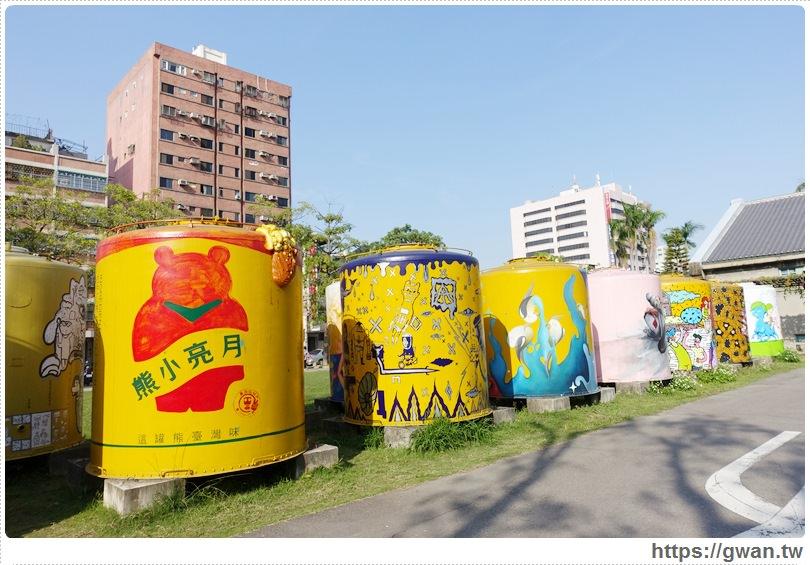 台中景點,文化創意產業園區,酒桶彩繪,大酒桶,台中舊酒廠,台中車站,後火車站,有很多大酒桶的地方,月亮小熊-2-1-614-1
