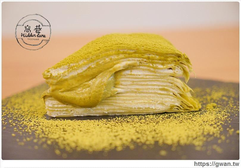[台中美食●西區] 窩巷 — 邪惡的抹茶流沙千層與酒杯甜點、各式塔類   食尚玩家推薦