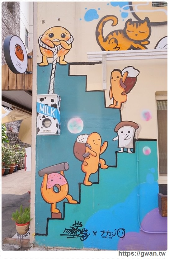 20170326022131 63 - 柳川や彩繪麵包店 — 可愛的冰淇淋菠蘿麵包與彩繪牆,好吃又好拍