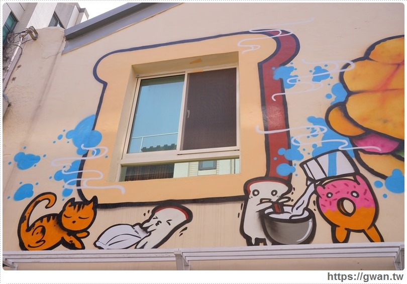20170326022135 11 - 柳川や彩繪麵包店 — 可愛的冰淇淋菠蘿麵包與彩繪牆,好吃又好拍