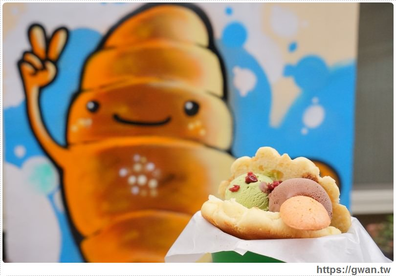 [台中美食●西區] 柳川や彩繪麵包店 — 可愛的冰淇淋菠蘿麵包與彩繪牆,好吃又好拍|食尚玩家推薦