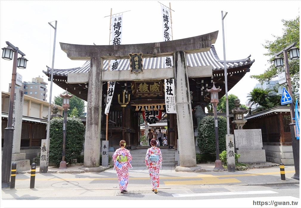 [日本九州●福岡博多] 櫛田神社 — 穿著和服去散步 | 參拜博多地區守護神