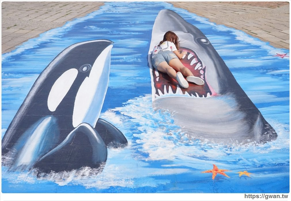 20171020223554 34 - 頂魚寮公園 — 3D地景藝術,和虎鯨、鯊魚一起拍照