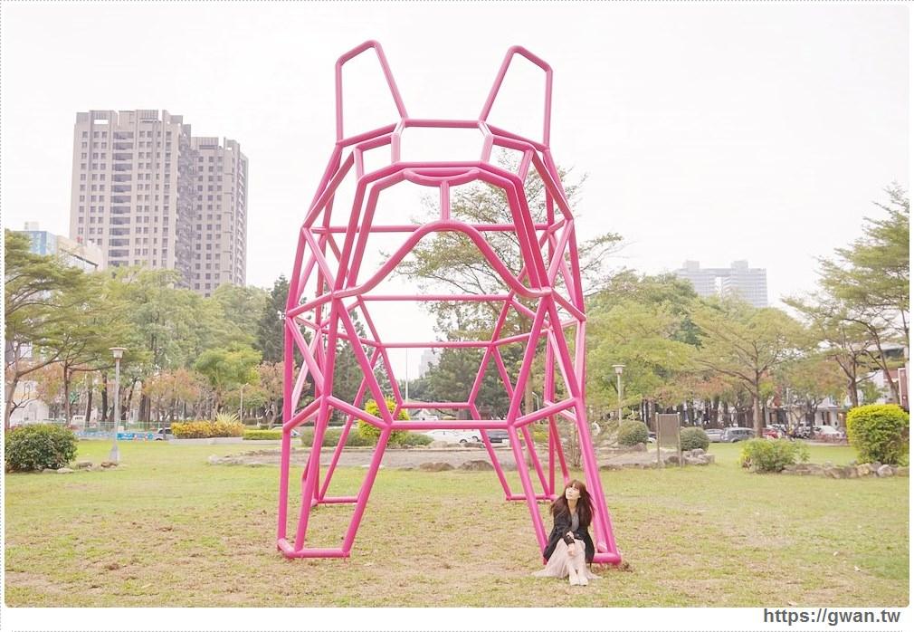 20180221232037 99 - 狗年旺旺最應景~6.5公尺粉紅法鬥犬,綠園道打卡新地標