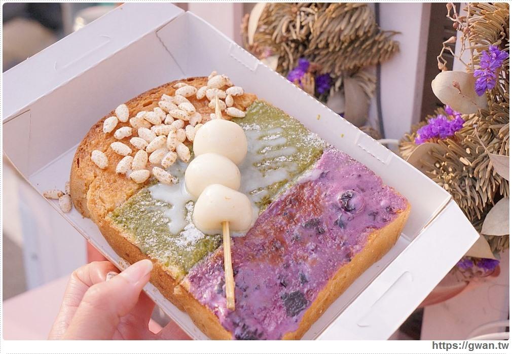[高雄餐車甜點●三民區] 花出 | 超繽紛的三色山脈厚片吐司,限量不一定天天有