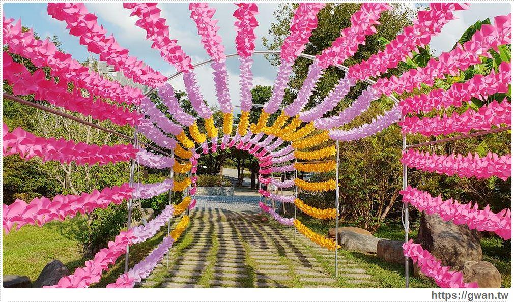 20181023192804 47 - 台中最新拍照景點,上千隻風車隧道、彩色花串免費拍到飽