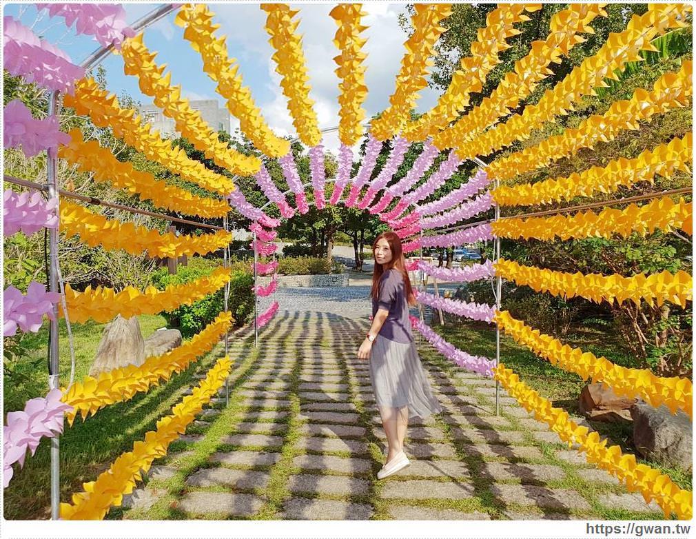 20181023192806 26 - 台中最新拍照景點,上千隻風車隧道、彩色花串免費拍到飽