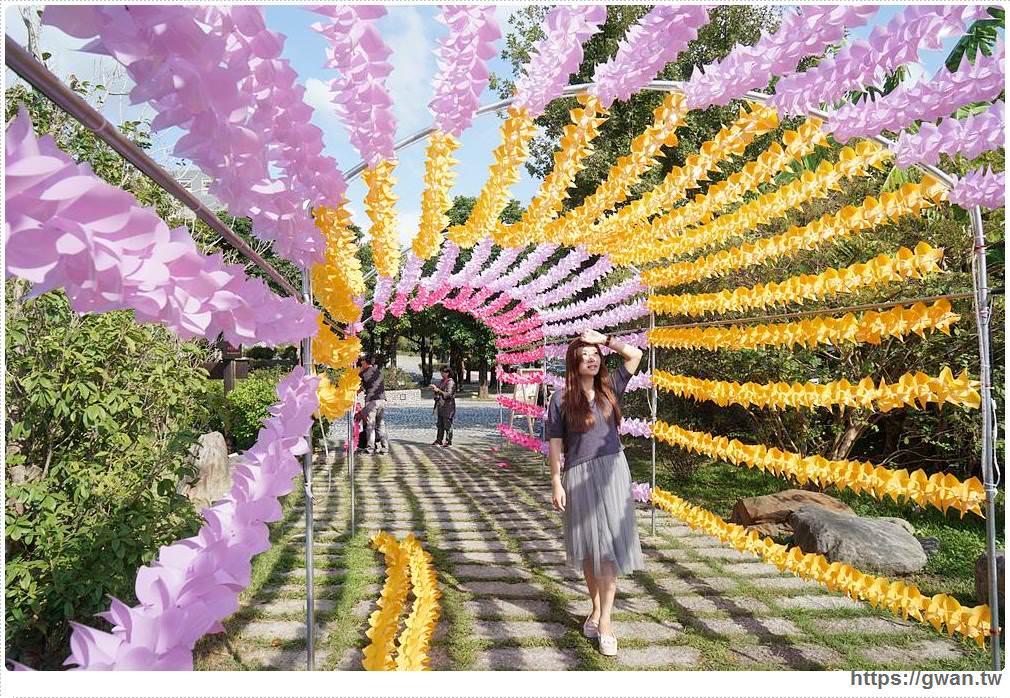 20181023192808 63 - 台中最新拍照景點,上千隻風車隧道、彩色花串免費拍到飽