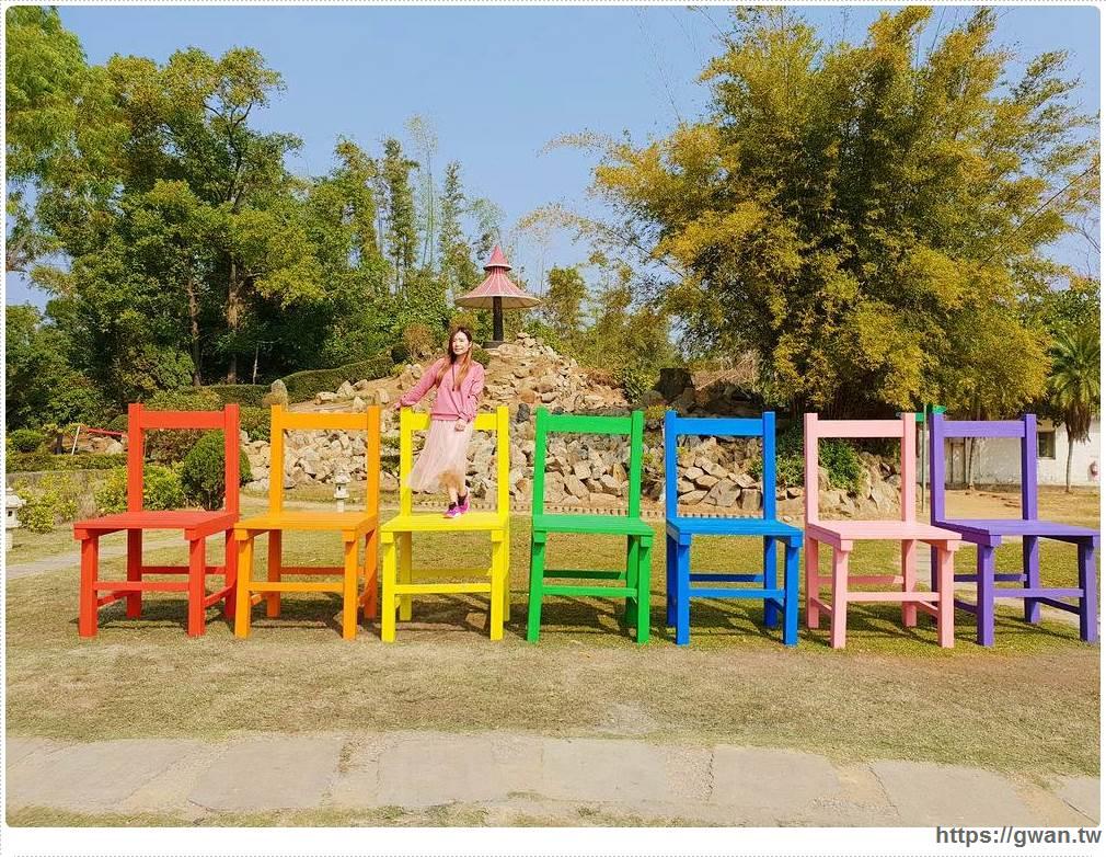 金門林務所 | 巨型彩虹椅出現在林務所,春節造景好好拍~