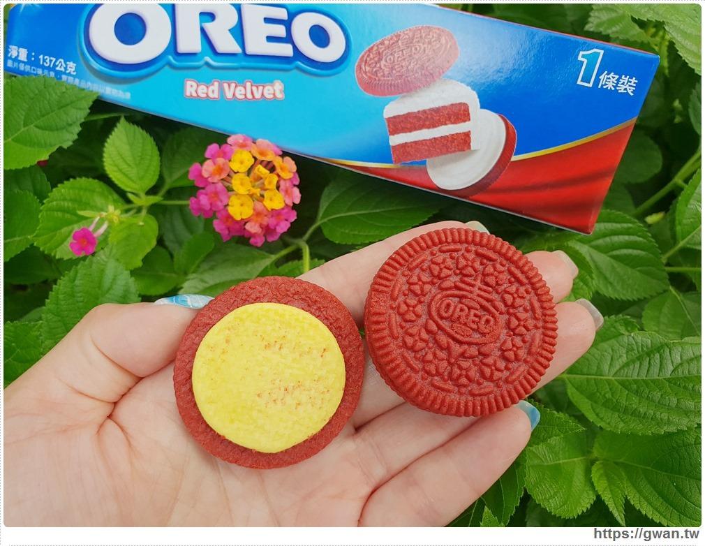 20190719122252 7 - 韓國爆紅的Oreo紅絲絨蛋糕,紅棕色可可餅乾+金黃起司內餡,期間限定~台灣也能買到囉!