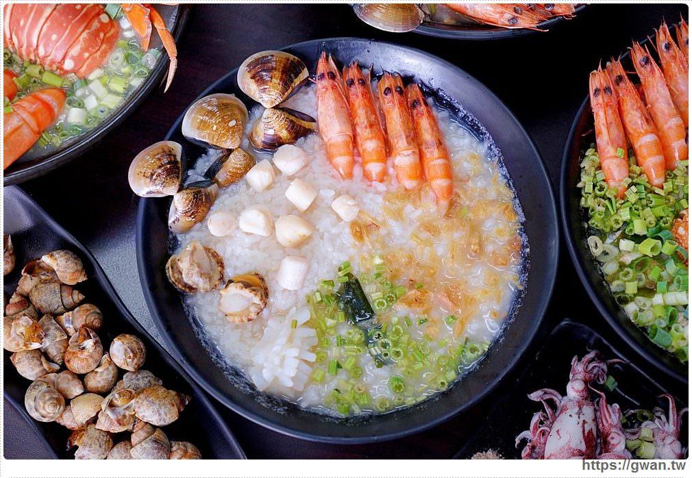 台中宵夜 | 豐原粥狂海鮮粥~五種海鮮現點現煮只要100元,營業到凌晨還可免費加飯!
