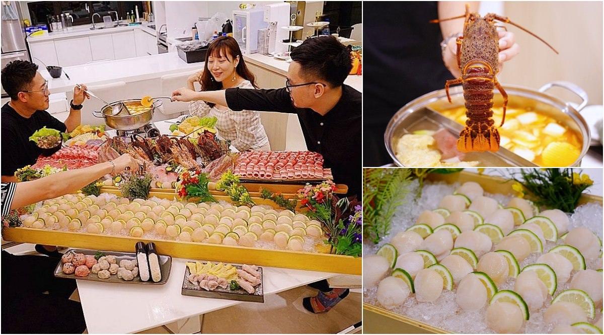 台中超狂屠龍到你家,客製化海鮮服務,一通電話在家吃屠龍大餐!
