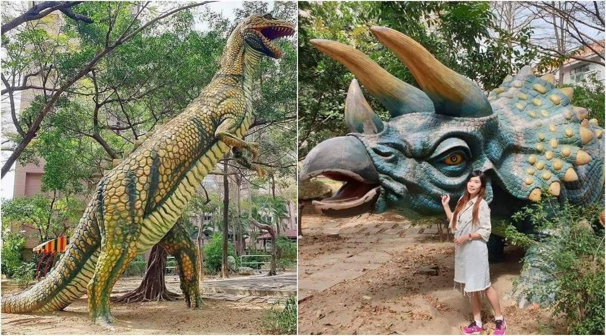 安南恐龍公園 | 藏在社區裡的侏儸紀公園,有暴龍、劍龍、三角龍