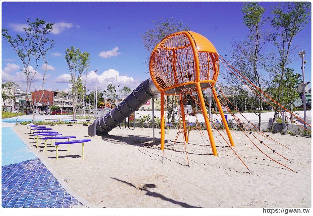大里草湖防災公園啟用囉!台中首座多功能防汛公園,還有水母溜滑梯和籃球場