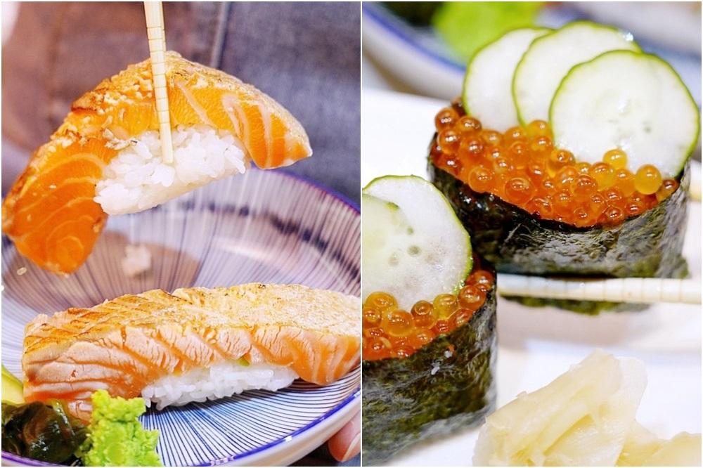 一中新開平價壽司,超厚鮭魚肚每天限量十份,味增湯只要15元!睿壽司