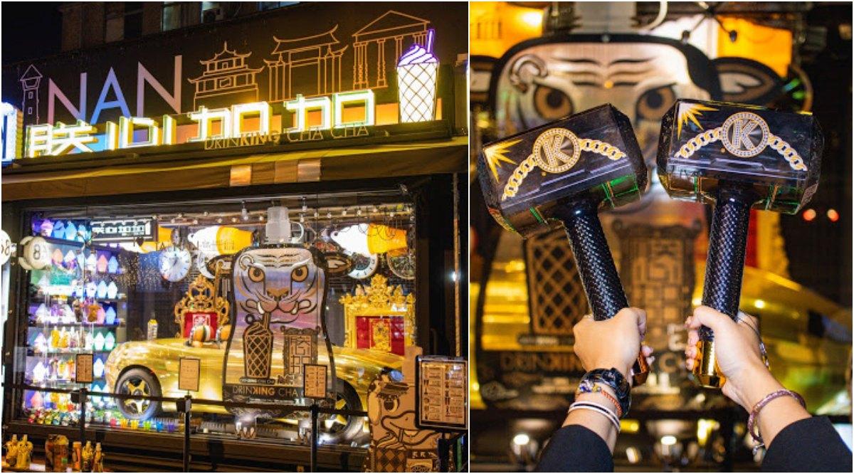台南最潮飲品『朕心加加』新開幕,超帥氣跑車與『雷神之鎚』都在這!