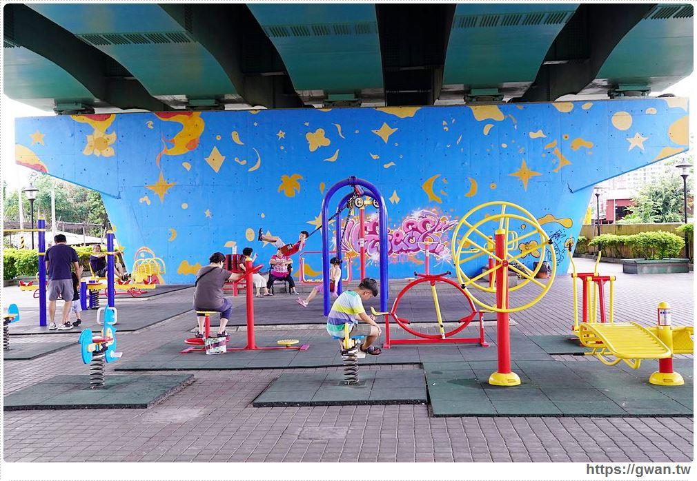 中投福德宮旁,藏在橋下的神祕樂園,有溜滑梯小朋友的快樂天堂!