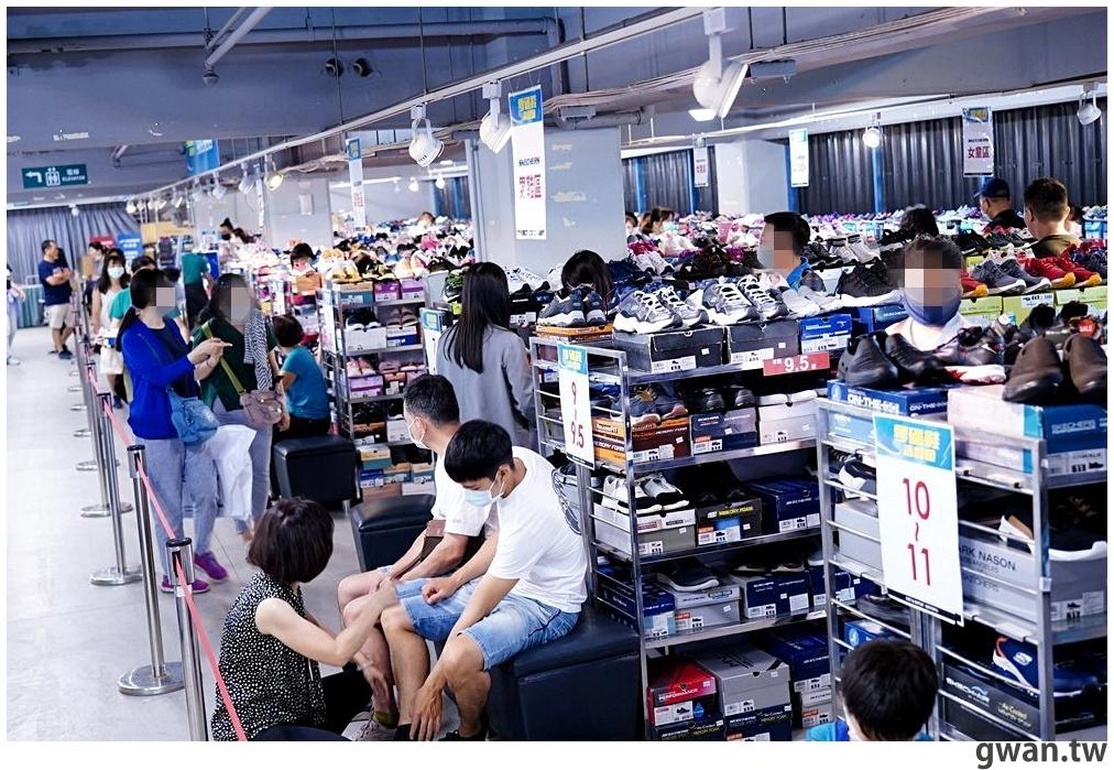 台中最大場零碼鞋出清,全面790元起!還有舊鞋換購鞋金、星巴克買一送一
