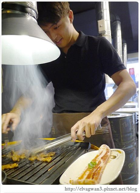 捷運美食,捷運國父紀念館站,燒桶子,韓風立燒,站著吃烤肉,韓國烤肉,汽油桶烤肉,EZ table,SHOP.COM夥伴商店-55-678-1