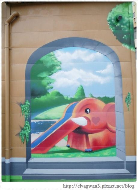 台南-東區-86綠園巷-彩繪-3D壁畫-巷內-遊樂園-4-077-1