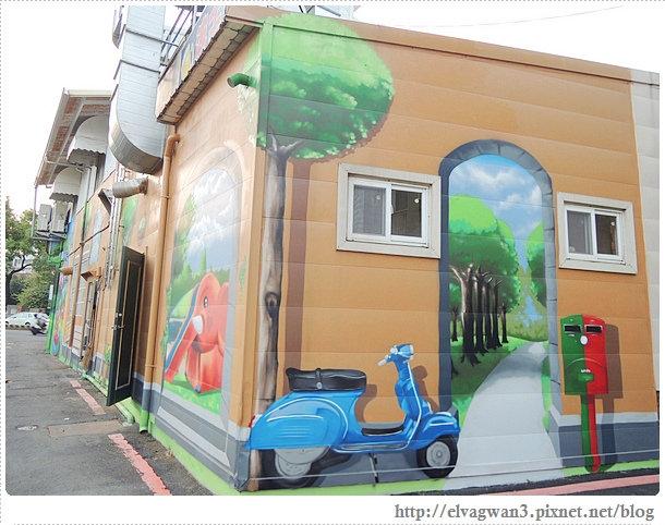 台南-東區-86綠園巷-彩繪-3D壁畫-巷內-遊樂園-10-424-1