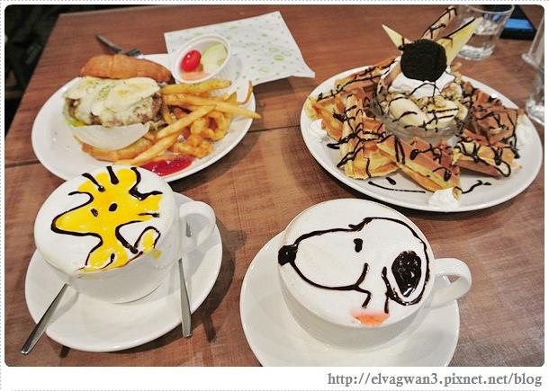 LongTimeAgo Cafe,文創互動咖啡館,極光之愛,電影場景,台北,大安區,捷運敦化站,可愛拉花,史努比,楊丞琳-25-109 (248)-1