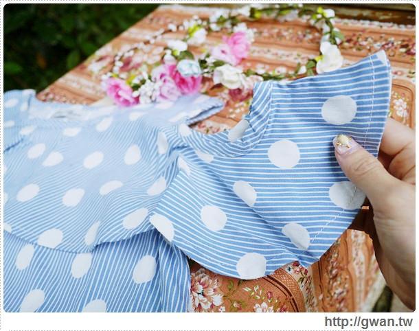 穿搭-愛戀小媽咪-孕婦裝-哺乳裝-流行時裝-ailian-MIT-山茶花-二件式-荷葉邊露肩短洋-點點裝-4-805-1