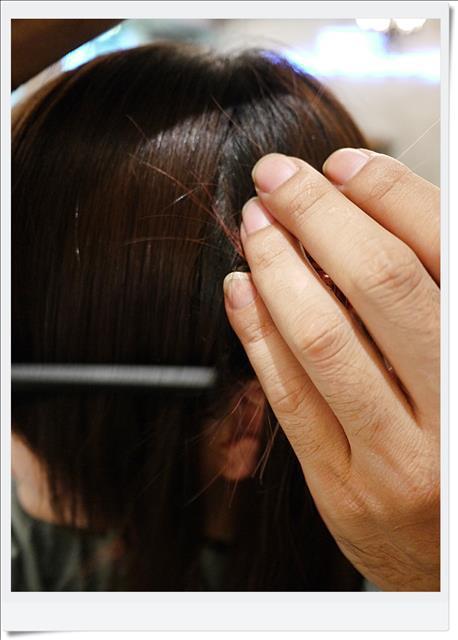 EC-fashionart:[頭毛兒] 真的只是剪劉海,出來頭上長朵花 XD