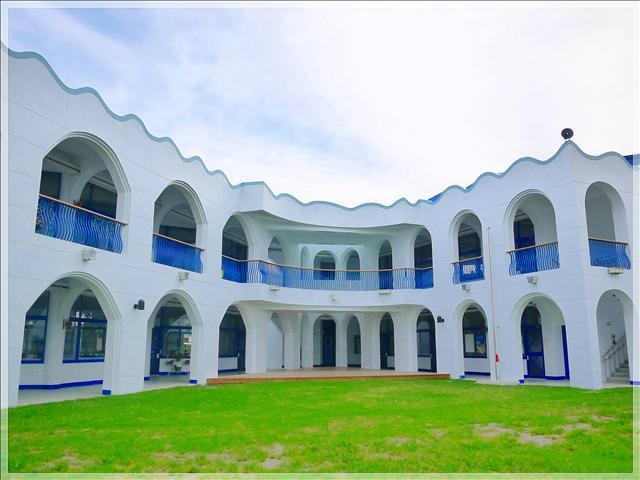 [台東景點] 台東縣豐源國小 — 校園巡禮之一 | 地中海式藍白建築,全台最美的小學