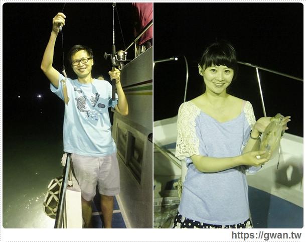 [澎湖旅遊●白沙鄉] 澎湖戀夏之旅船釣活動–海上享用鮮味晚餐+夜釣小管~媽呀!!我們釣到花枝啦